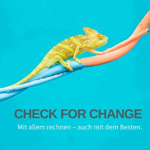 Landingpage: Check for Change - Veränderung und Transformation zulassen. Vorbereitet sein auf alles, was kommt.